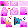 Vector clipart: Pink envelopes