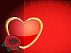 Vector clipart: Red rose and heart