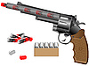 Vector clipart: Revolver and tablets