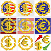 Векторный клипарт: Шесть иконы