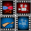 Vector clipart: cinema set