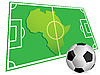 Vector clipart: Soccer ball and Africa map
