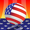 Vector clipart: Sphere and flag