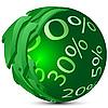 Vector clipart: Sphere-percents