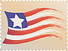 Vector clipart: postage stamp and flag