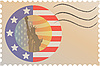 Stamp USA | Stock Vektrografik
