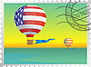 Vector clipart: Stamp with theof balloons