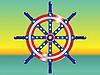Vector clipart: Steering wheel ship