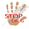 Vector clipart: Stop drug