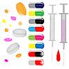 Векторный клипарт: Таблетки и шприцы