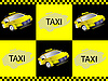 Vector clipart: Taxi and sign