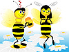 Vector clipart: The bees