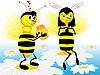 Векторный клипарт: Пчелы