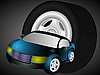 Vector clipart: The car and wheel
