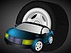 Векторный клипарт: Автомобиля и колеса