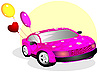 Vector clipart: The car for the enamored