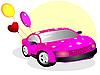 Векторный клипарт: Автомобиль для влюбленных