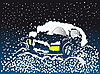 Auto in Schneewehe | Stock Illustration
