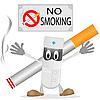 Векторный клипарт: Врач и сигареты