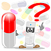 Vector clipart: The doctor and pills