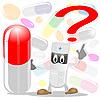 Векторный клипарт: Врача и таблетки