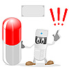Vector clipart: The doctor and sign