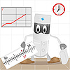 Vector clipart: The doctor and thermometer