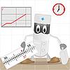 Векторный клипарт: Врач и термометр