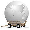Векторный клипарт: Земной шар в корзину