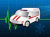 Vector clipart: The medical car