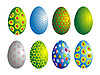 Vector clipart: ornamented eggs