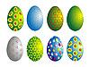 Векторный клипарт: раскрашенные яйца