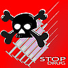 Vector clipart: The poster against drugs