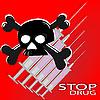 Векторный клипарт: Плакат против наркотиков
