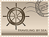 Vector clipart: Traveling by sea