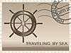 Векторный клипарт: Путешествие на море