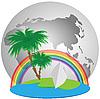 Vector clipart: Trevel on the world