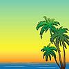 Векторный клипарт: Тропические деревья