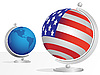 Vector clipart: Two globe