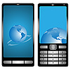 Vector clipart: Two mobile phones