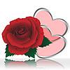 Векторный клипарт: Два сердца и розы