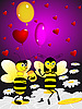 Two bees | Stock Illustration