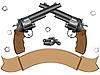Векторный клипарт: Два револьвера