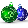 Two sale Christmas balls | Stock Vector Graphics