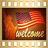 Vector clipart: Welcome in USA