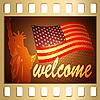 Векторный клипарт: Добро пожаловать в США
