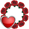 Vector clipart: Wreath from roses