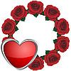 Векторный клипарт: Венок из роз