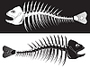 Vector clipart: skeleton of fish