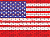 Vector clipart: flag of the USA on brick wall